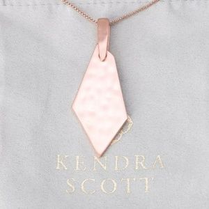 "Kendra Scott ""Brenton"" Rose Gold Pendant Necklace"
